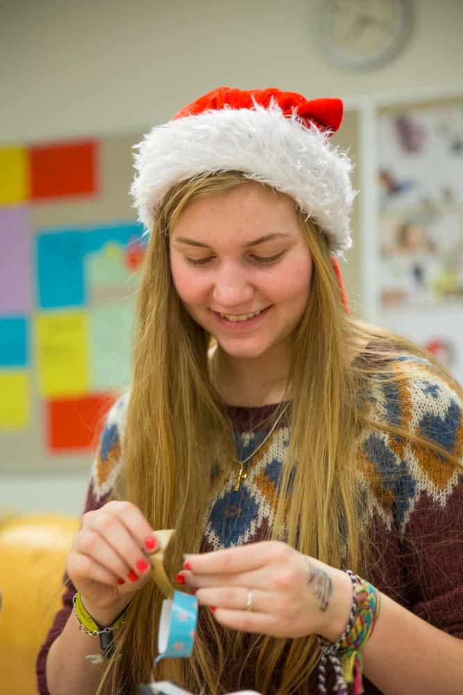 Juleklip på efterskolen